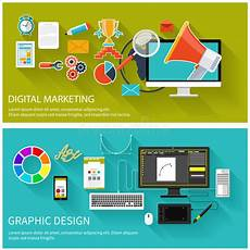 Marketing Graphic Design Digital Marketing Concept Graphic Design Stock Vector