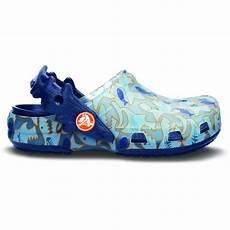 Uv Light Color Changing Shoes Crocs Kids Chameleons Shark Uv Clog Light Blue Navy