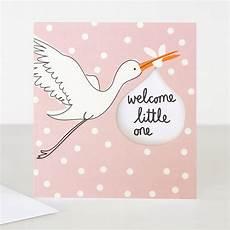 Welcome Baby Girl Welcome Little One New Baby Girl Card Caroline Gardner Uk