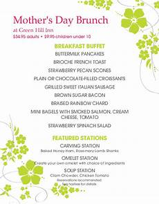 Happy Mother S Day Brunch Menu Mother S Day Menus