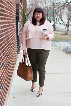 Light Pink Shirt What Color Pants Olive Blush Featuring Target Who What Wear Plus Size