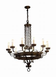 12 Light Wrought Iron Chandelier 12 Light Wrought Iron Arts Amp Crafts Chandelier Olde Good