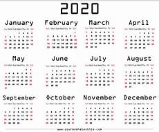 Page A Day Calendar 2020 Download 2020 Calendar Free Templates