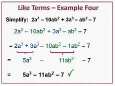 Terms In Algebra Combining Like Terms Passy S World Of Mathematics