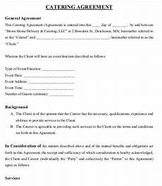 Catering Agreement Template 9 Simple Catering Agreement Templates Docs Word Free