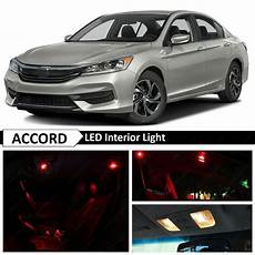 2017 Honda Accord Interior Lights 16x Red Interior Led Lights Package Kit For 2013 2017