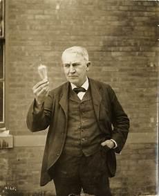 Thomas Edison Light Bulb Thomas A Edison Holding Incandescent Lightbulb Dpl Dams