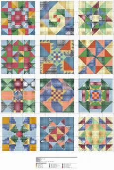 Free Needlepoint Charts Free Cross Stitch Quilt Block Patterns No Color Chart