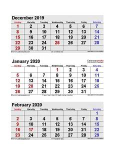Calendar January December 2020 January 2020 Calendar Templates For Word Excel And Pdf