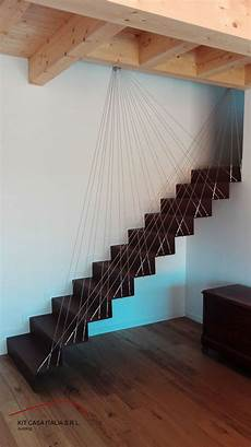 ringhiera scala interna acciaio scala interna progettata dalla kit casa italia materiale