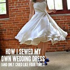 how i sewed my own wedding dress and only cried like four