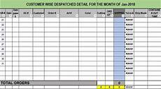 Dispatch Template Daily Dispatch Template Excel Free Download With Images