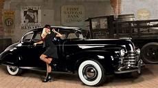 wallpaper women with cars vintage car hot rod sedan