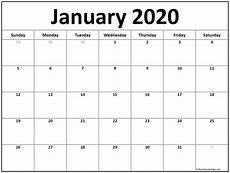 January Editable Calendar 2020 January 2020 Calendar Printable Template In Pdf Word Excel