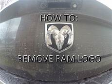 Lighted Dodge Ram Tailgate Emblem How To Replace Ram Emblem On Tailgate Remove Youtube
