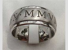 Custom Roman Numeral Wedding Ring : LOVE2HAVE in the UK!