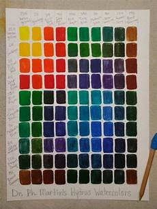 Ab Martin Color Chart Dr Ph Martin S Hydrus Watercolors Color Mixing Chart