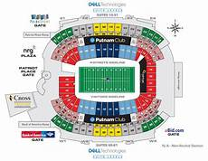 Ud Football Stadium Seating Chart Gillette Stadium New England Patriots Football Stadium
