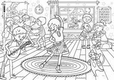 tanzen musizieren musik kleurplaten kinderen