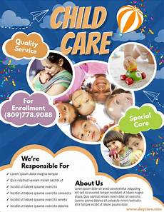 Child Care Flyer Design Daycare Flyer Template Postermywall