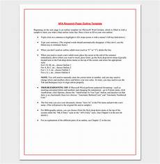 Format For Apa Research Paper Research Paper Outline Apa Format 7 Examples And Samples