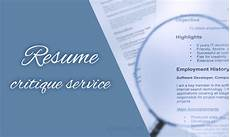 Online Resume Critique What You Can Really Get From A Resume Critique Service