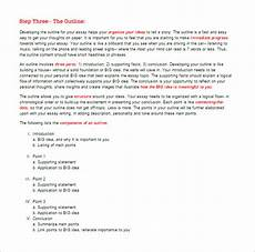 Essay Outline Template Word Essay Outline Templates 10 Free Word Pdf Samples