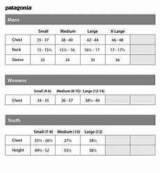 Patagonia Kids Size Chart Patagonia Sizing Chart Amerasport