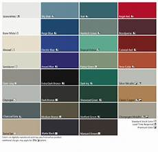 Tin Roofing Color Chart Residential Tin Roof Colors Ice Free Zone Color Options