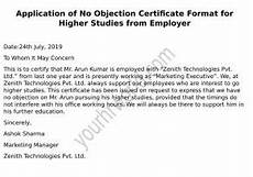 Sample Of No Objection Letter From Employer Hr Letter Formats Free Human Resource Forms Formats