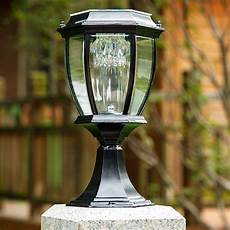 Led Outdoor Post Light Fixtures Exterior Outdoor Solar Powered Led Garden Yard Pillar