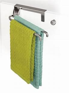 cabinet door towel bar chrome in kitchen towel holders