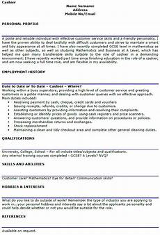 Sample Cv For Cashier Job Cashier Cv Example And Template Lettercv Com
