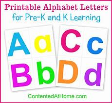 Alphabet Letters Printable Printable Alphabet Letters Contented At Home