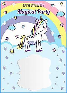 7th Birthday Invitation Card Printable Unicorn Free Printable First Birthday Invitation Template