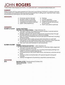 Hostess Job Description Resumes Host Hostess Resume Examples Free To Try Today