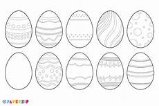 Malvorlage Osterei Din A4 Blank Easter Eggs Paperzip