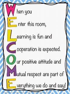 Welcome Chart For Classroom Welcome Door Sign I Love My Classroom Classroom Door