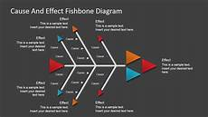 Cause And Effect Power Point Flat Fishbone Diagram For Powerpoint Slidemodel