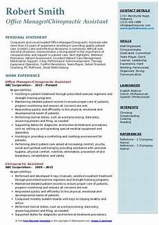 Chiropractic Assistant Resume Chiropractic Assistant Resume Samples Qwikresume