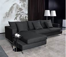 Black Sectional Sofa 3d Image by Black Fabric Sectional Sofa Home Furniture Design