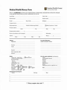 Comprehensive Health History Form Free 7 Health History Forms In Samples Examples Formats