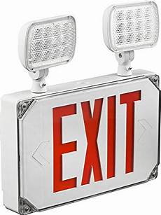 Location Exit Light Combo Location Red Exterior Weatherproof Outdoor Led Combo