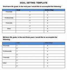 Goal Sheet Template Goal Setting Template 6 Free Word Pdf Document