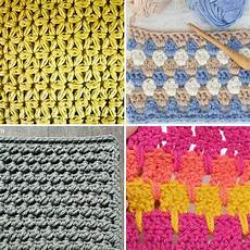 30 crochet stitches for blankets and afghans many with