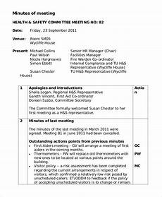 Format Of A Meeting Minutes Free 11 Sample Meeting Minutes In Pdf Ms Word Google