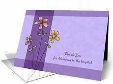 Thank You For The Visit Thank You For Hospital Visit Standing Flowers Card 1140196