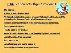 Iop Spanish Indirect Object Pronouns Iop Authorstream
