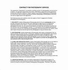 Contract For Photography Services Template 22 Photography Contract Templates Word Pdf Apple