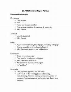 Apa Format Structure Structure Of College Research Paper Format Apa Research